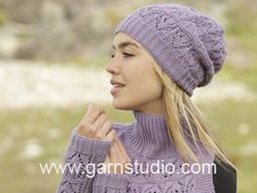 How to knit A.1 for the hat with lace pattern in DROPS 171-54 ~ DROPS Design