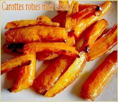 Carottes roties miel citron