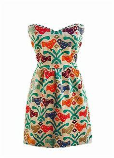 Judith March Aztec Bird dress - cute!