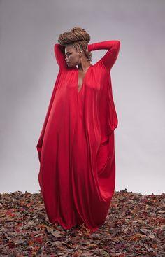 Image of long-sleeved drape
