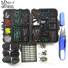 1 Set Assorted Carp Fishing Accessory Line Scissors Stopper Hook Swivel Rubber Sleeve Sinker Lock Hair Rig etc. Terminal Tackle #clothing,#shoes,#jewelry,#women,#men,#hats,#watches,#belts,#fashion,#style