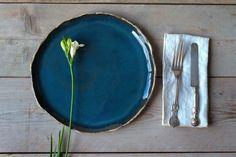 Pottery Gifts, Handmade Pottery, Handmade Ceramic, Pottery Plates, Ceramic Plates, Rustic Dinner Plates, Rustic Dinnerware, Organic Ceramics, 1 Piece