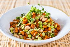 Roasted Sweet Potato and Lima Bean Salad with Multigrain Mustard Dressing  www.chefkenny.com