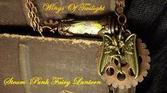 Rainbow Glow In The Dark  Steam Punk Fairy by WingsOfTwilight, $38.00