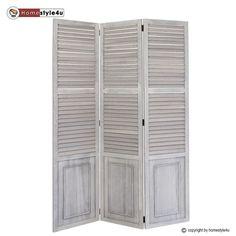 3 fach Paravent Raumteiler Holz Trennwand spanische Wand Sichtschutz grau in Möbel & Wohnen, Dekoration, Paravents | eBay