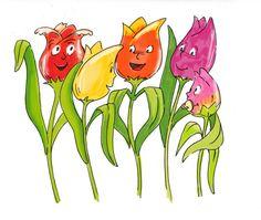 Fingerspiel Fünf Tulpen