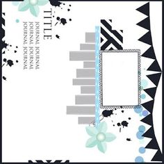 scrapbook page, layout