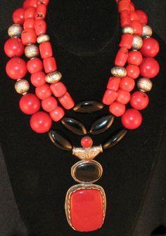 Coral Jewelry, Tribal Jewelry, Chunky Jewelry, Statement Jewelry, Diy Necklace, Necklace Designs, Etsy Jewelry, Handmade Jewelry, Jewellery
