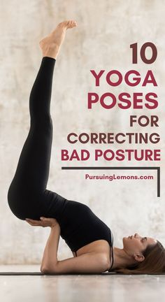 benefits of pilates Practicing these yoga poses for correcting bad posture to strengthen your core and back muscles. This will help you improve your posture and stand taller. Yoga Fitness, Physical Fitness, Fitness Tips, Fitness Men, Fitness Style, Fitness Logo, Fitness Quotes, Health Fitness, Fitness Outfits