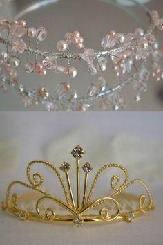 Beautiful tiaras & hairbands for wedding prom bridesmaid flower girl communion