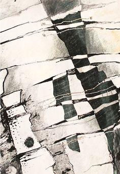 Gwen Hedley | Textile Study Group Textiles Sketchbook, Art Sketchbook, Textile Fiber Art, Textile Artists, Abstract Drawings, Abstract Art, Tinta China, A Level Art, Black And White Abstract