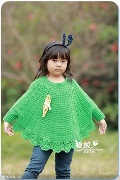Poncho, crochet sweater for girls. Discussion on LiveInternet - Russian Service Online Diaries