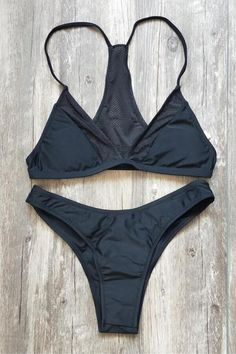 57612950eb92c Floralkini Fishnet Insert Triangle Bikini Set