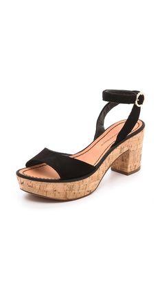 Diane von Furstenberg Odelia Platform Ankle Wrap Sandals