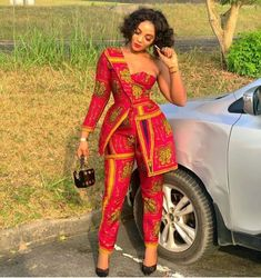 African Prom Dresses, Latest African Fashion Dresses, African Dresses For Women, African Attire, Ankara Fashion, Short Dresses, Ankara Dress Styles, Ball Dresses, African Print Jumpsuit