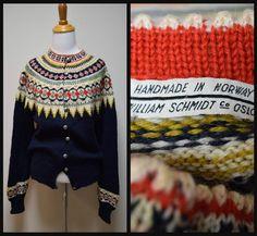 Label: William Schmidt, Oslo. Handknit in Norway.