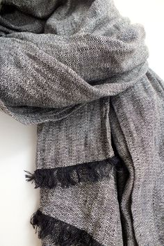 Perfect gift for mother. Elegant, soft natural linen scarf / shawl / wrap – a unique product by dainorakyte via en.DaWanda.com