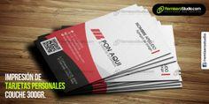 Tarjetas personales impresas en Imprenta offset de alta calidad, en couche de 300 gr. a full color, desde 1 millar por nombre, se imprimen de 1 día para otro.