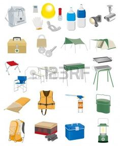 Camping Equipment Clip Art