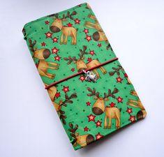 Fabric cover Fauxdori - Funny deer,  Travelers Notebook, Midori insert, Cover fabric, Fabric Midori book, Field Note, Standard Size Midori