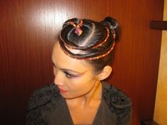 hair- ribbons with rhinestones