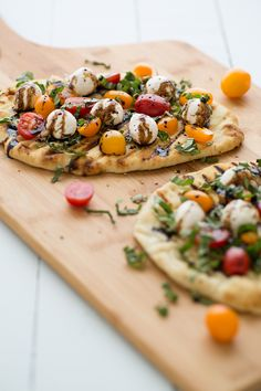 Grilled Caprese Naan pizza.  This obviously needs to happen once tomatoes are in season.