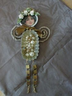 beadqueen Altered Art Doll by littlethings1, via Flickr