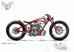 honda cb125 bobber sketch | dariztdesign