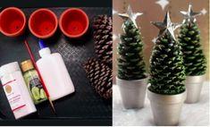 Snímek obrazovky 2017-11-30 v11.24.32 Planter Pots, Xmas, Table Decorations, Crafts, Craft Ideas, Home Decor, Christmas, Homemade Home Decor, Navidad
