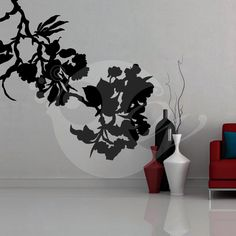 With this Flower Silhouette Wall Sticker Decal you can decorate your walls in one of the most modern and elegant ways