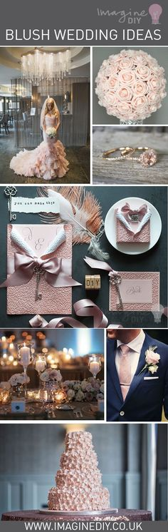 Blush wedding ideas for your wedding day.