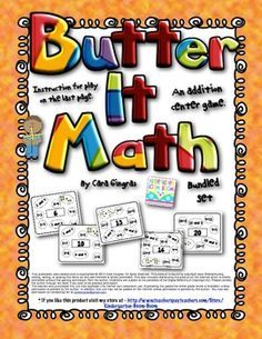 Butter It Math  Composing Numbers 1-20 (Bundle Set) - Great for Independent Morning work, Math Centers, or to use with Kagan structures! $