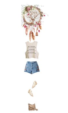"""Dream catcher"" by autumnred ❤ liked on Polyvore featuring Pier 1 Imports, Gracie, Miss Selfridge, Alexandre Birman, tanktop, sandals and bag"
