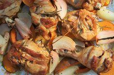 coxa e sobrecoxa de frango assado com vegetais - amor pela comida