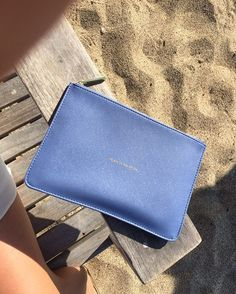 Our cornflower blue pouch is the perfect beach bright accessory for this summer! KLx #blue #blahblahblah #bag #potd #clutch #botd #potd #fashion #blogger #beach #summer #accessory #bright #sand #blah #holiday #sun #perfectpouch