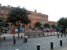 Esplanada Miterrand en Toulouse.