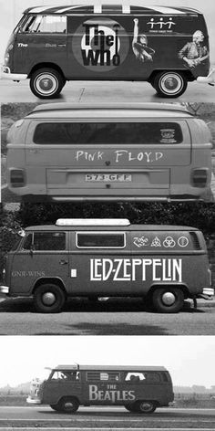 The Magic Volkswagen Bus - The Who, Pink Floyd, Led Zeppelin The Beatles. seen them all except the Beatles! Pop Rock, Rock And Roll, Music Love, Music Is Life, Good Music, My Music, Volkswagen Bus, Vw T1, Blues