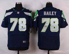 Seattle Seahawks #78 Alvin Bailey Navy Blue Team Color NFL Nike Elite Men's Jersey