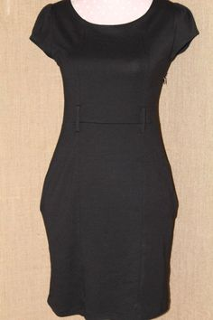 Womens Dress H & M size 8 black w/belt loops W/pockets casual/business tag 34.90 #HM #CasualCareereventeveryday #Any