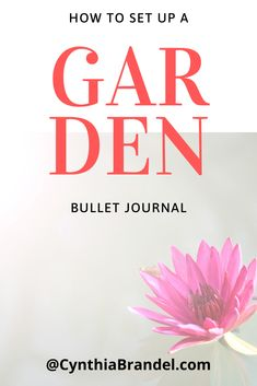 Design your garden using the bullet journal method
