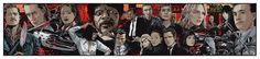 Tarantino XX Collage Poster Art Print Artist Proof by Ken Taylor Kill Bill Mondo | eBay