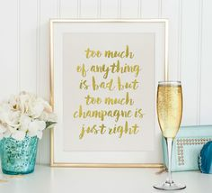New Years Eve Party | Instant Download | NYE Party | Champagne Print | Printable Art | Gold Foil Art | Champagne Quote | Printable Quote by SmudgeCreativeDesign on Etsy https://www.etsy.com/listing/231141775/new-years-eve-party-instant-download-nye