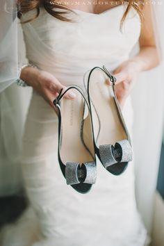 Sparkling Enzo Angiolini shoes #white #wedding #dress #shoes #bride #brides #photography