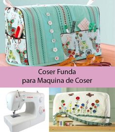 How to sew cover for sewing machine linings or covers for .- Como coser funda para maquina de coser forros o fundas para maquina de coser How to sew cover for sewing machine linings or covers for sewing machine patterns # sewing machine - Sewing Caddy, Sewing Projects For Beginners, Sewing Hacks, Sewing Tips, Dressmaking, Deco, Diy And Crafts, Sewing Patterns, Crafty