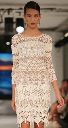 Vestidos de Crochet  Puedes tejer con Fresquita o Delicia. Ukryl Calidad que Teje la Moda