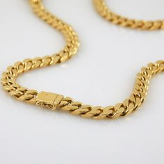 Items similar to AMAZING vintage, yellow gold, tight curb link chain with slide clasp on Etsy Vintage Jewelry, Unique Jewelry, Unique Vintage, Solid Gold, My Etsy Shop, Jewellery, Trending Outfits, Yellow, Handmade Gifts