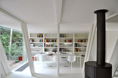 Extension vB4- An Addition to an A-frame House by dmvA Architecten