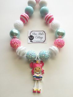 Shopkins Shoppies Girl Donutina chunky bead necklace by MissMelsCottage on Etsy