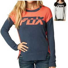 Fox Racing Identified Women's Ladies Fall Casual Pullover Crew Neck Sweater