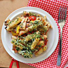 Baked rigatoni with eggplant and pine nut crunch. So full of vitamins and minerals you won't need any supplements!